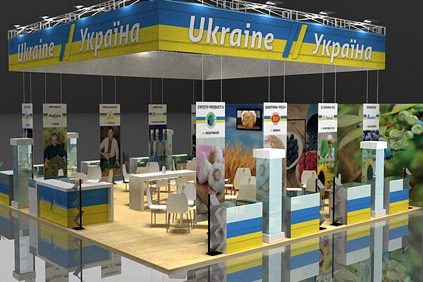 model of the Ukraine's country stall