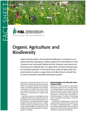 Organic Agriculture and Biodiversity