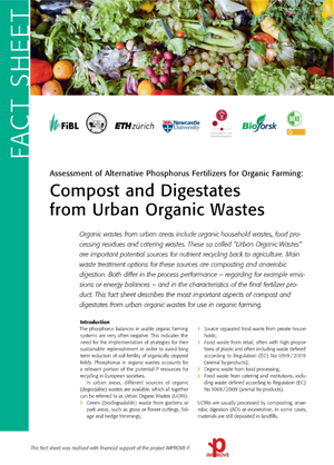 Assessment of Alternative Phosphorus Fertilizers for Organic Farming: Compost and Digestates from Urban Organic Wastes