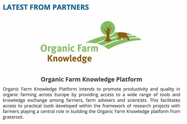 A screenshot of the FAO Newsletter