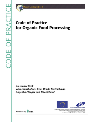 Code of Practice for Organic Food Processing
