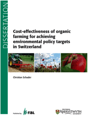 Cost-effectiveness of organic farming for achieving environmental policy targets in Switzerland