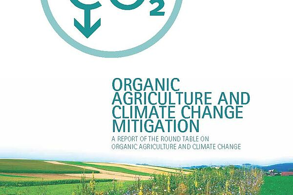 "Cover study ""Organic Agriculture and Climate Change Mitigation"""