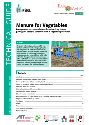 Manure for vegetables