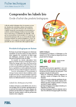Comprendre les labels bio