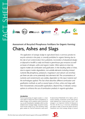 Chars, Ashes and Slags
