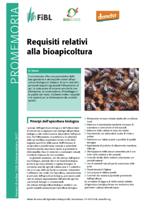 Esigenze relative all'apicoltura biologica