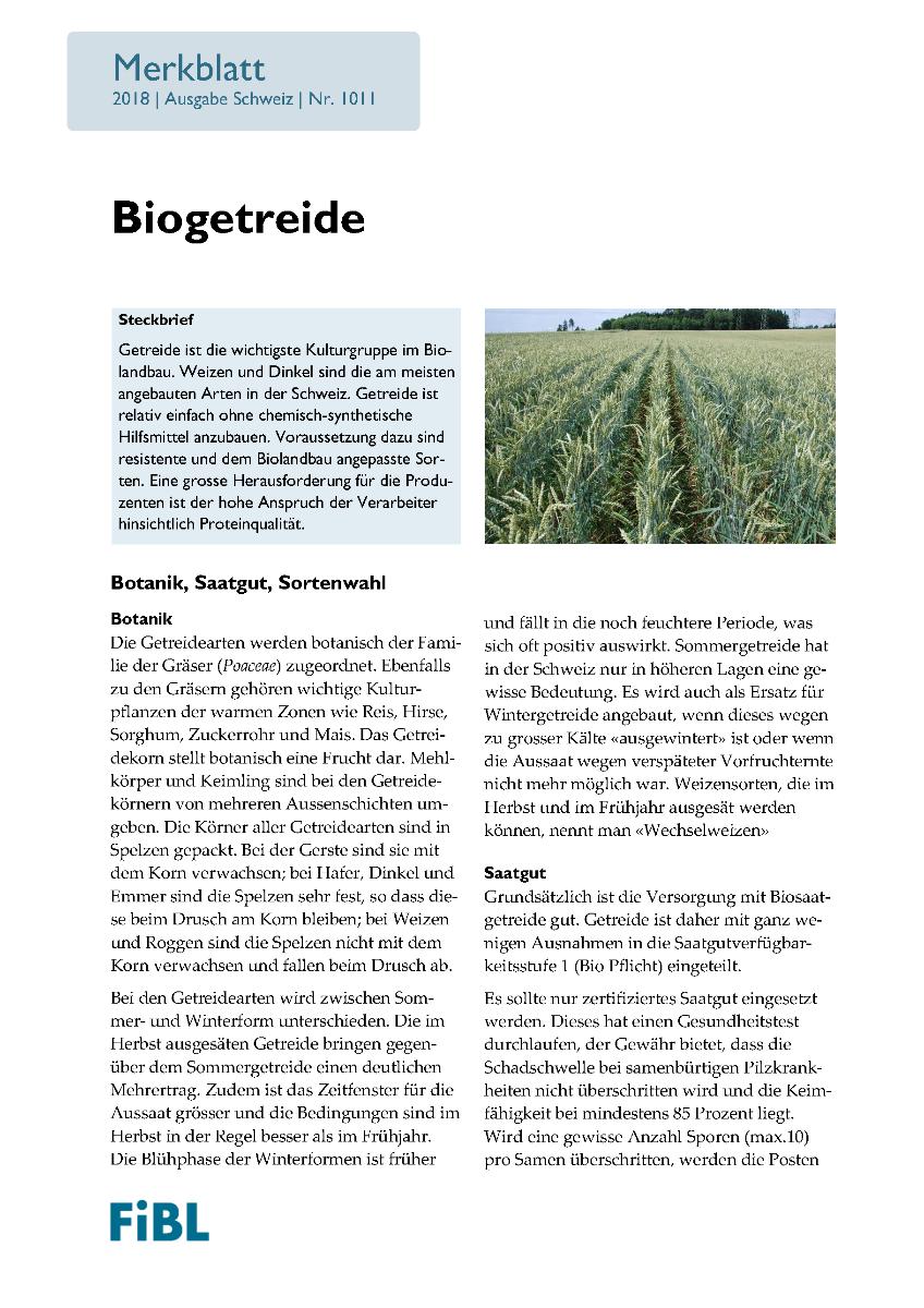 Biogetreide