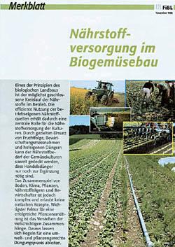Nährstoffversorgung im Biogemüsebau