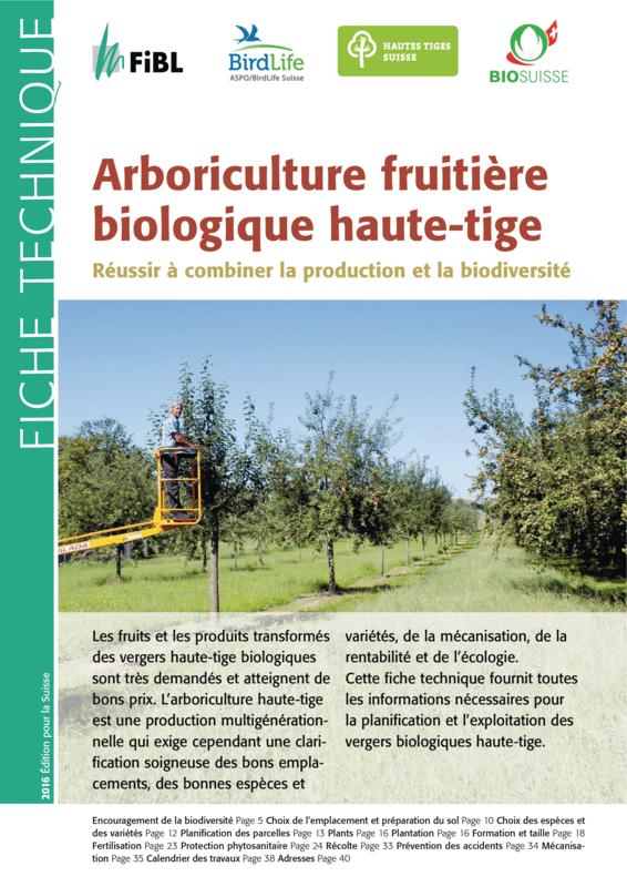 Arboriculture fruitière biologique haute-tige