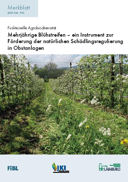 Mehrjährige Blühstreifen – ein Instrument zur Förderung der natürlichen Schädlingsregulierung in Obstanlagen