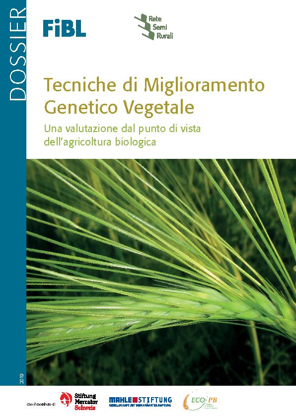 Tecniche di Miglioramento Genetico Vegetale