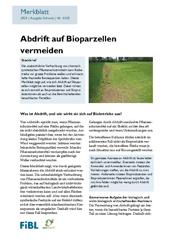 Abdrift vermeiden im Bioanbau