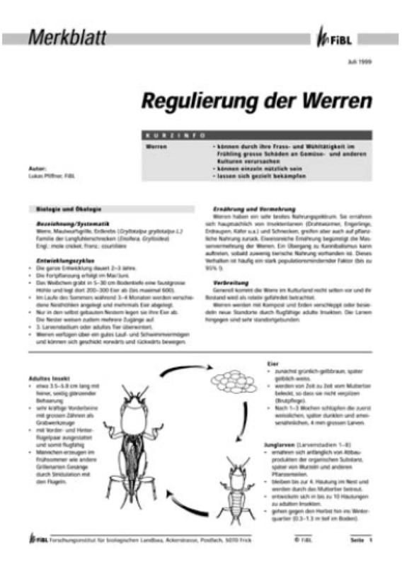 Regulierung der Werren