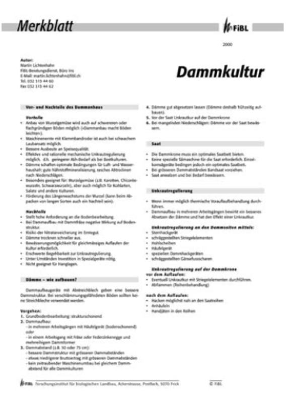 Dammkultur
