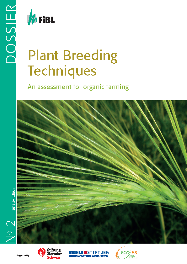 Cover: Plant Breeding Techniques