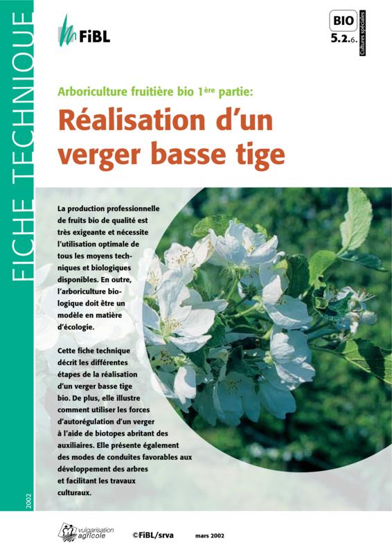 Arboriculture fruitière bio 1ère partie