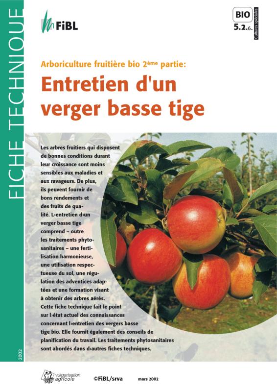 Arboriculture fruitière bio 2ème partie