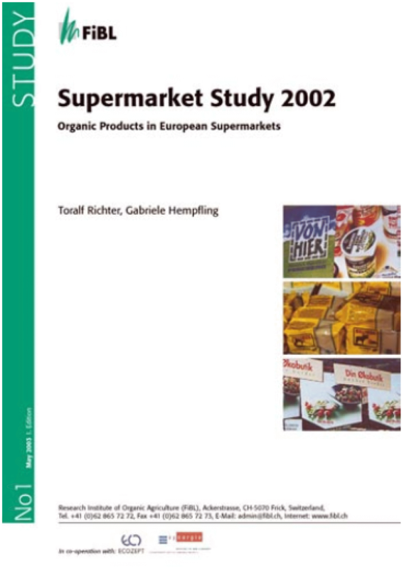 Cover: Supermarket Study 2002. Organic Products in European Supermarkets