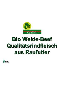 Bio Weide-Beef Präsentation