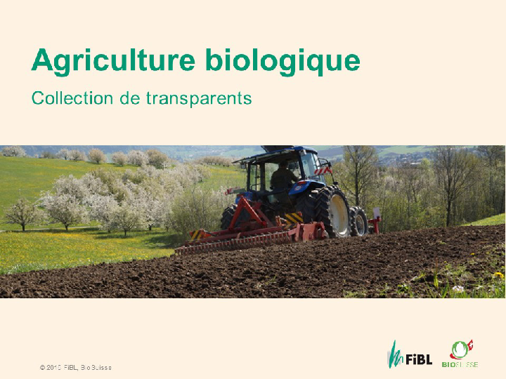 Cover: Collection de transparents sur l'agriculture biologique