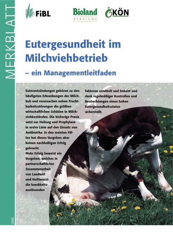 Eutergesundheit im Milchviehbetrieb