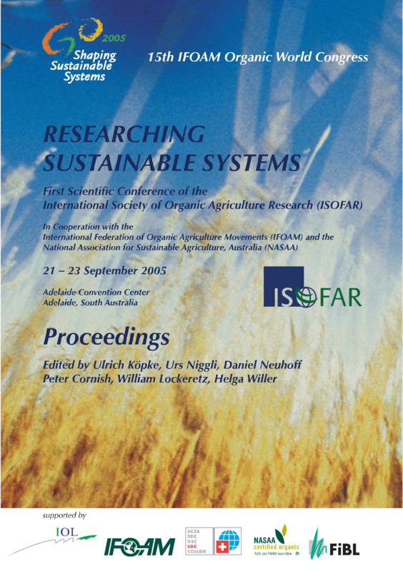 Cover: Researching Sustainable Systems