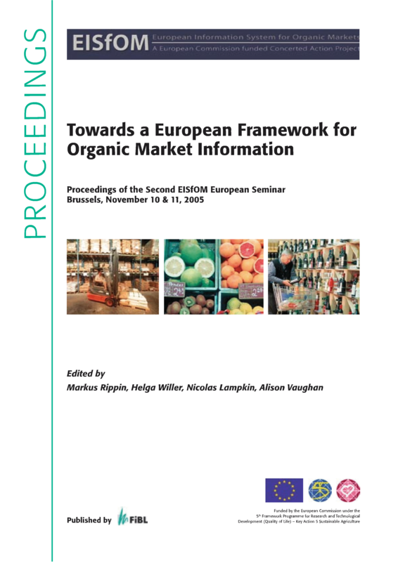 Cover: Towards a European Framework for Organic Market Information