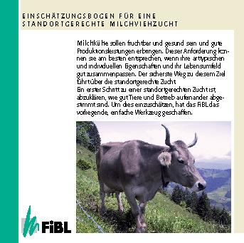 Einschätzungsbogen für eine standortgerechte Milchviehzucht (Schweiz)
