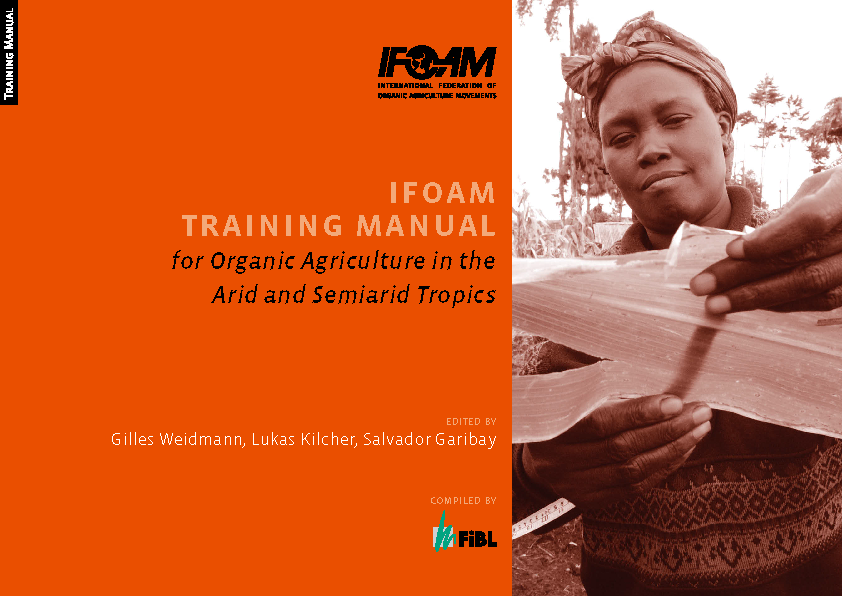 Cover: IFOAM Training Manual for Organic Agriculture in the Arid and Semiarid Tropics