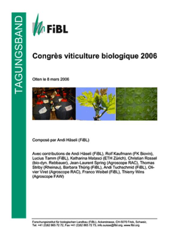 Congrès viticulture biologique 2006