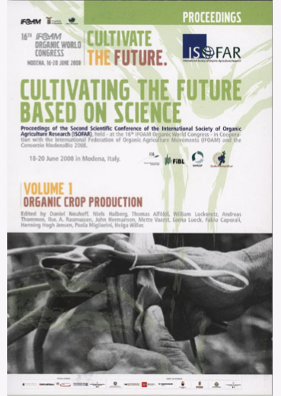 Cover: Cultivating the Future Based on Science. Volume 1: Organic Crop Production