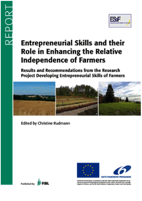Cover: Entrepreneurial Skills and their Role in Enhancing the Relative - Independence of Farmers