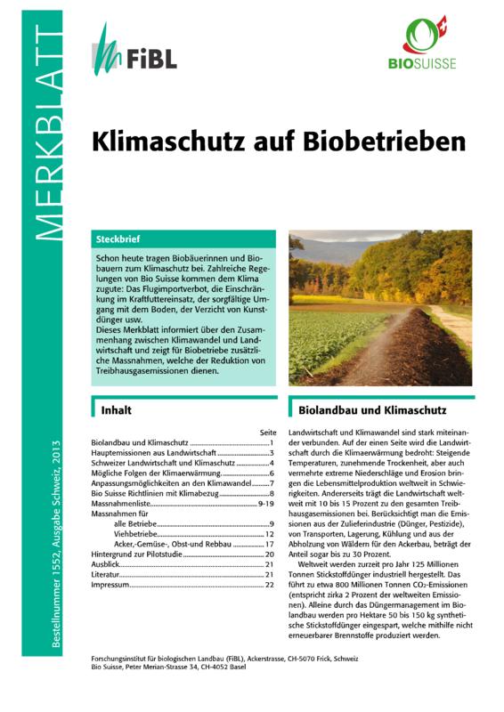 Klimaschutz auf Biobetrieben