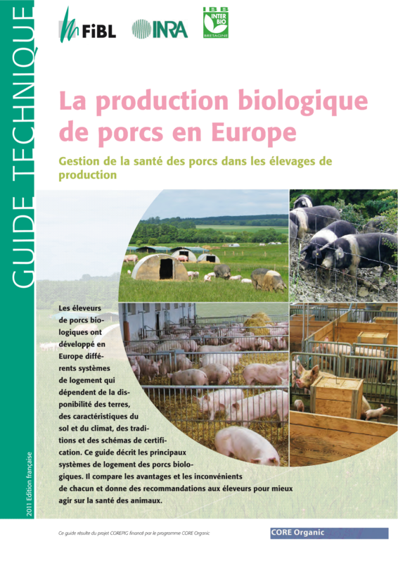 Cover: La production biologique de porcs en Europe