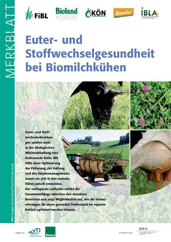 Euter- und Stoffwechselgesundheit bei Biomilchkühen