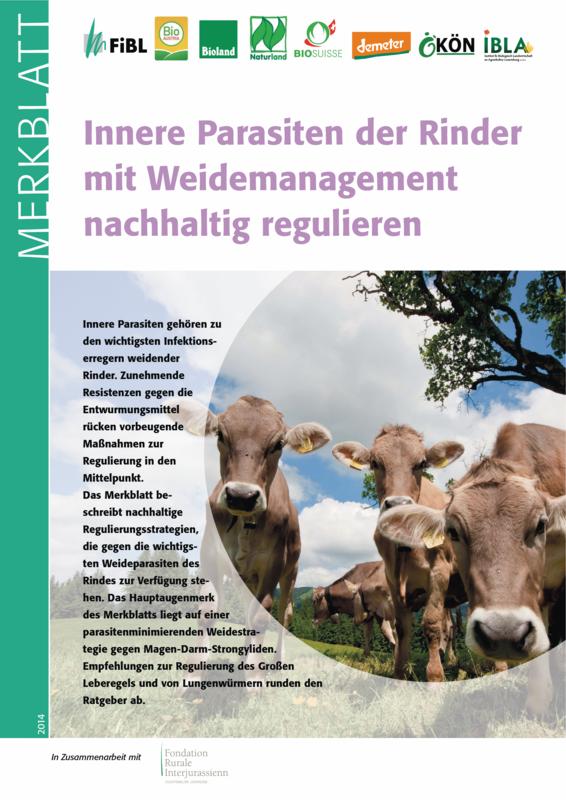 Innere Parasiten der Rinder mit Weidemanagement nachhaltig regulieren