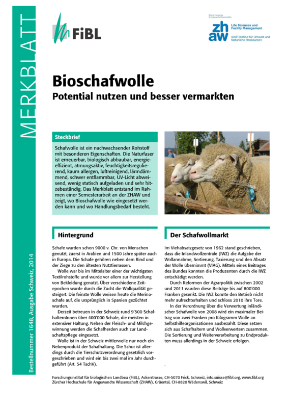 Cover: Bioschafwolle