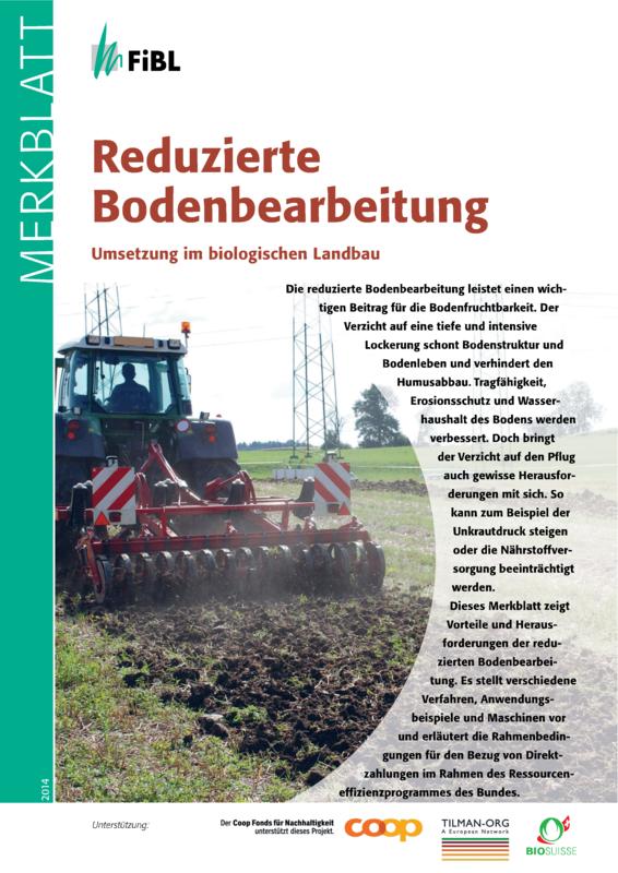 Reduzierte Bodenbearbeitung
