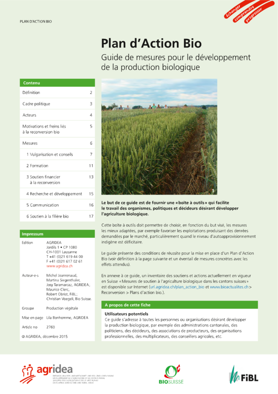 Cover: Plan d'Action Bio