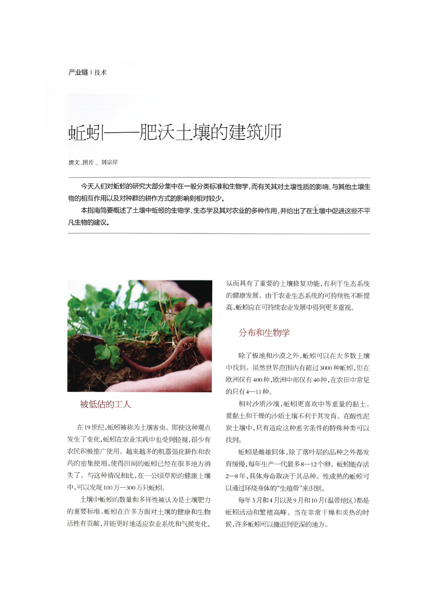 Cover: Earthworms – Architects of fertile soils (Chinese)