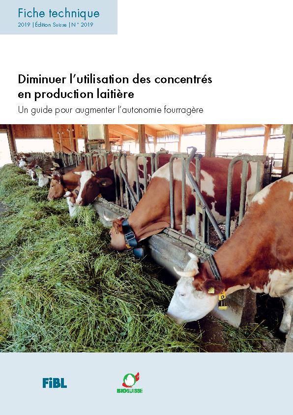 Diminuer l'utilisation des concentrés en production laitière