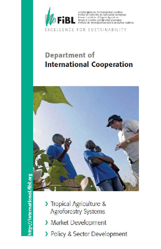 Cover: Department of International Cooperation